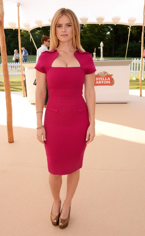 Alice Eve Posing For Stella Artois Wimbledon Launch Party In London
