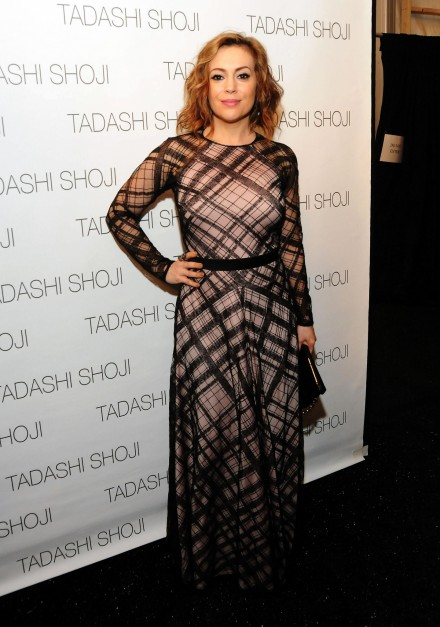 Alyssa Mercedes Benz Fashion Week Fall February Th Alyssa Milano
