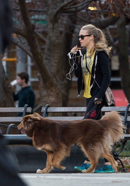 Amanda Seyfried Takes Finn Out For Walk In Nyc November