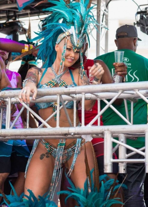 Amber Rose At Carnival In Trinidad And Tobago