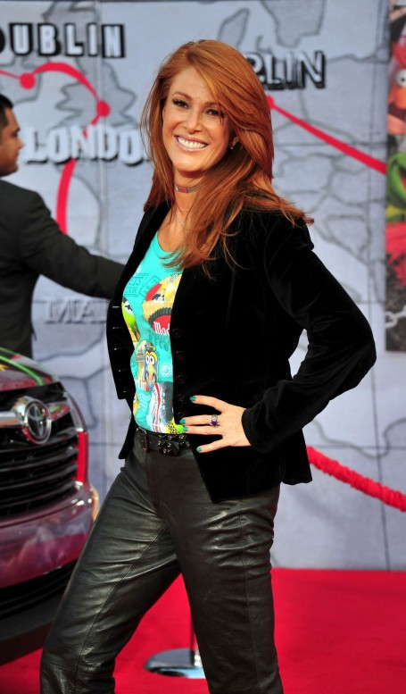 Angie Everhart At The Muppets Most Wanted Premiere In Hollywood
