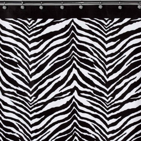 Creative Bath Products Bw Zebra Shower Curtain Tv
