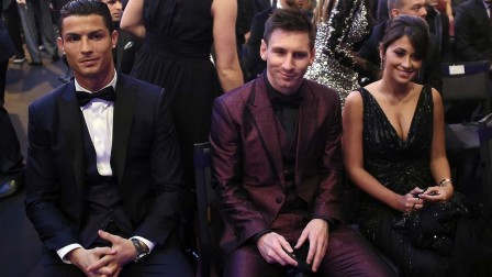 Xmessi And Antonella Roccuzzo With Cristiano Ronaldo At The Last Golden Ball Ceremonypagespeedicgzvqpmj And Messi