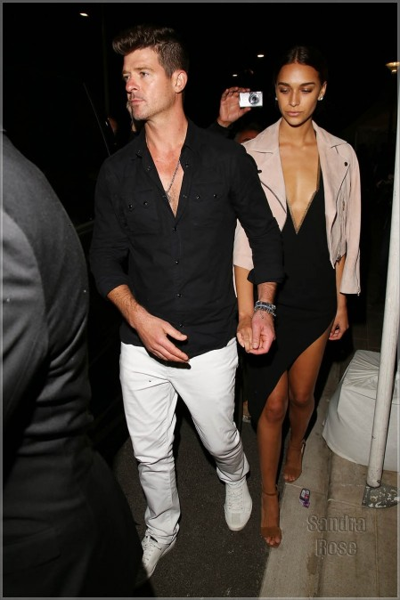 Robin Thicke And April Love Geary Spl