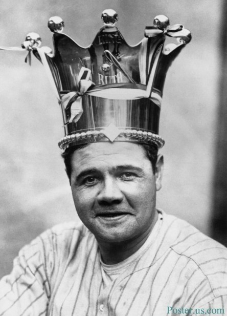 Babe Ruth Wearing Crown