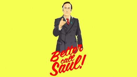 Better Call Saul Minimalism Vectors Yellow Words Suits