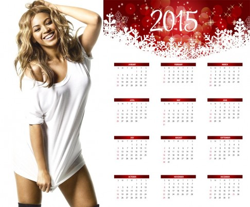 Beyonce Hot Nightie Wallpaper Calendar