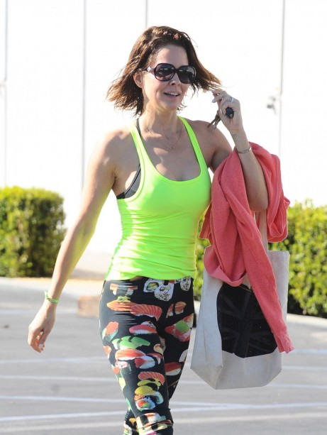 Brooke Burke Outside Of Gym In Malibu