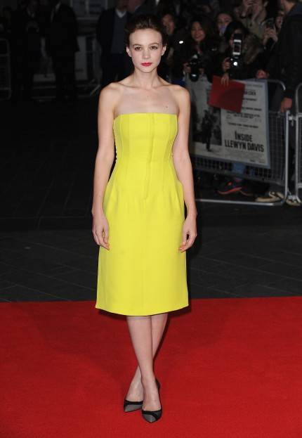Carey Mulligan Yellow Dior Dress