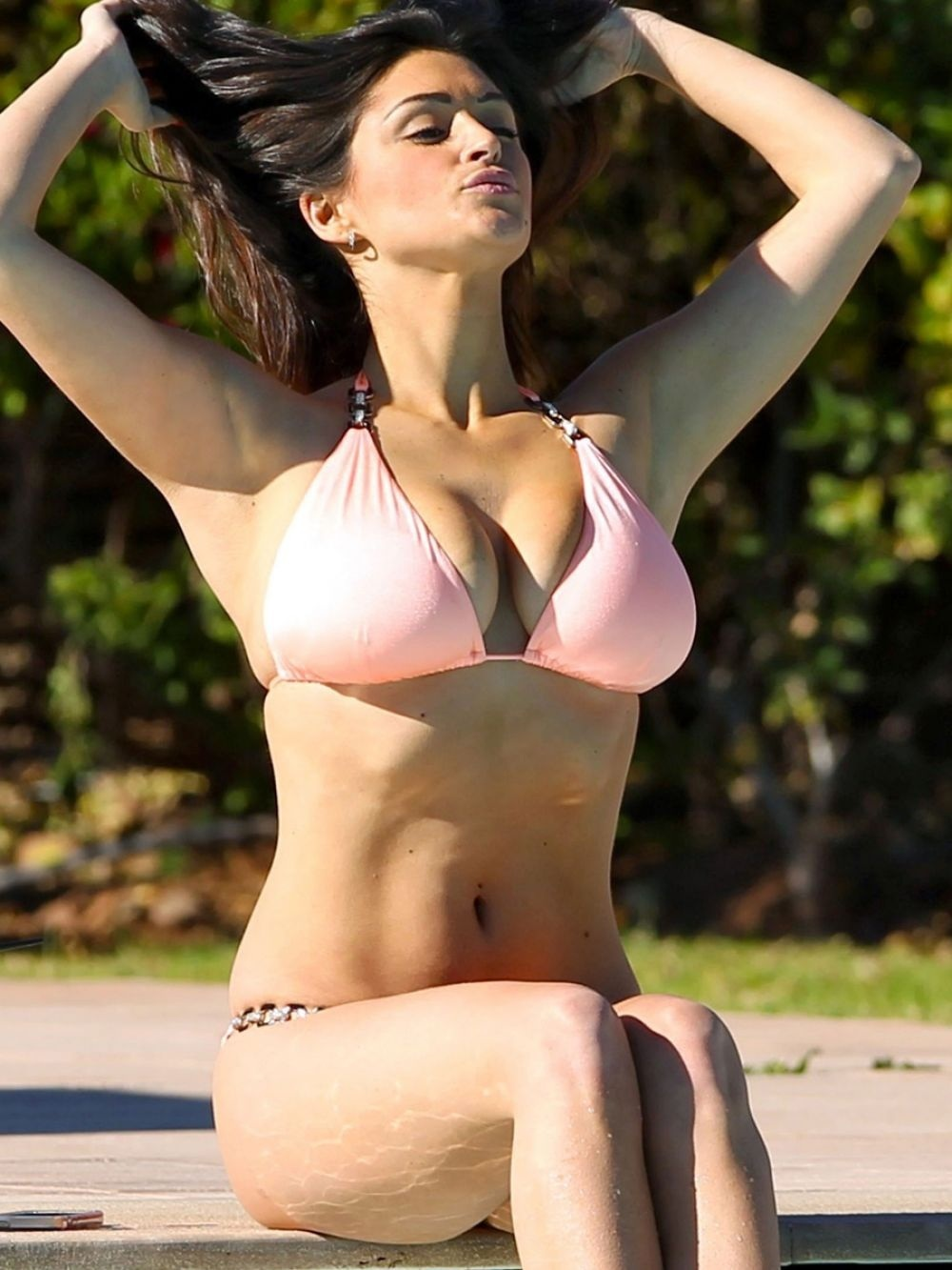 Casey Batchelor In Bikini By The Pool