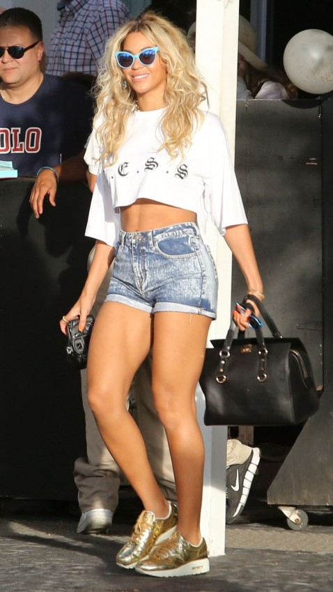 Beyonce South Beach Wildfox Sunglasses Less Crop Top Nike Sneakers