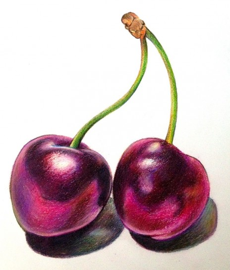 Adjusted Black Cherries Drawing