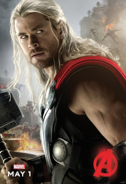 Avengers Age Of Ultron Thor Poster Chris Hemsworth