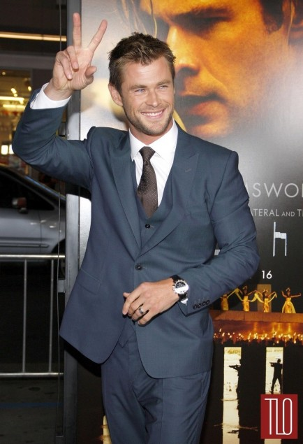 Chris Hemsworth Blackhat Movie Premiere Los Angeles Red Carpet Fashion Tom Lorenzo Site Tlo Movies