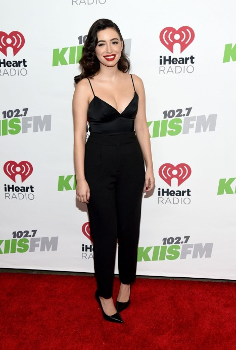 Christian Serratos Attend The Kiis Fm Jingle Ball In Los Angeles