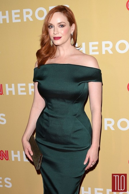 Christina Hendricks Cnn Heroes All Star Tribute Red Carpet Fashion Zac Posen Tom Lorenzo Site Tlo