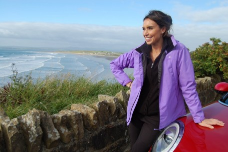 Pic Christine Bleakley During Filming At Rossnowlagh Hot