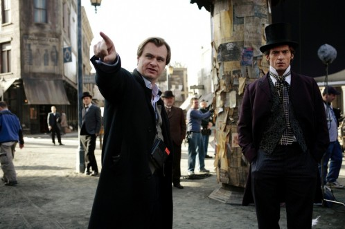 Still Of Hugh Jackman And Christopher Nolan In Prestigiul Large Picture Wife
