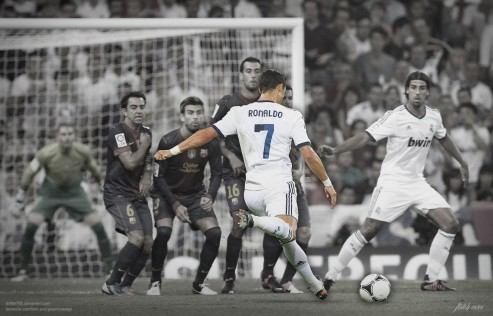 Cristiano Ronaldo Real Madrid Wallpaper Free Kick Wallpaper