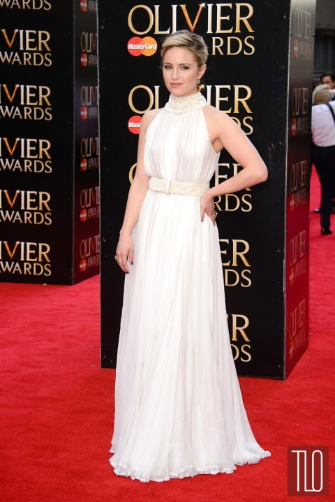 Dianna Agron Olivier Awards Red Carpet Fashion Alexander Mcqueen Tom Lorenzo Site Tlo