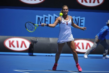 Dominika Cibulkova Rd Round Of The Australian Open In Melbourne January