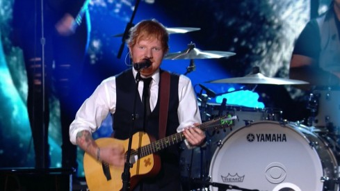 Ed Sheeran Performs Thinking Out Loud With John Mayer Joins Elo At Grammy Awards Video