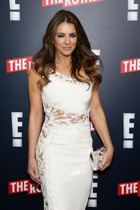 Elizabeth Hurley Attend The Royals Premiere In New York City