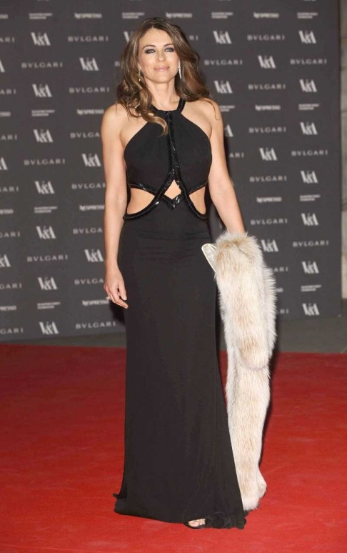 Elizabeth Hurley In Roberto Cavalli Fashion