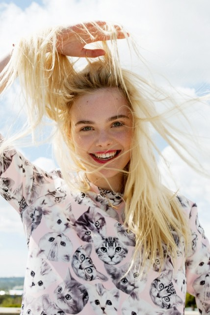 Elle Fanning Asos Magazine Photos Beach