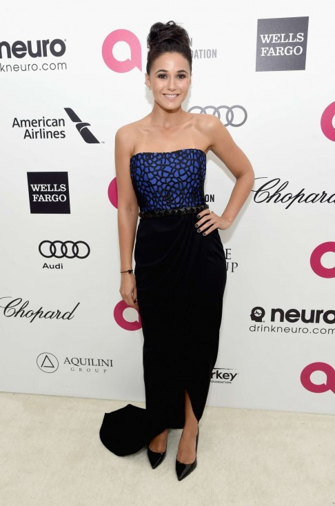 Emmanuelle Chriqui Elton John Aids Foundations Oscar Viewing Party Hollywood