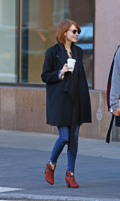 Emma Stone New York October Fashion