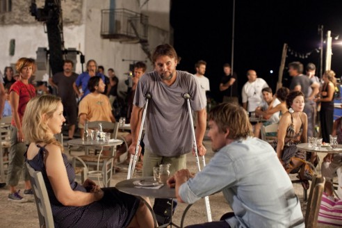 Still Of Ethan Hawke Julie Delpy And Richard Linklater In Before Midnight Large Picture