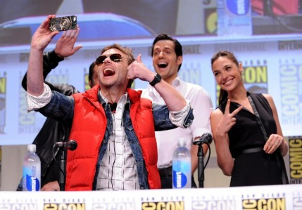 Henry Cavill Chris Hardwick And Gal Gadot At Event Of Batman Superman Dawn Of Justice