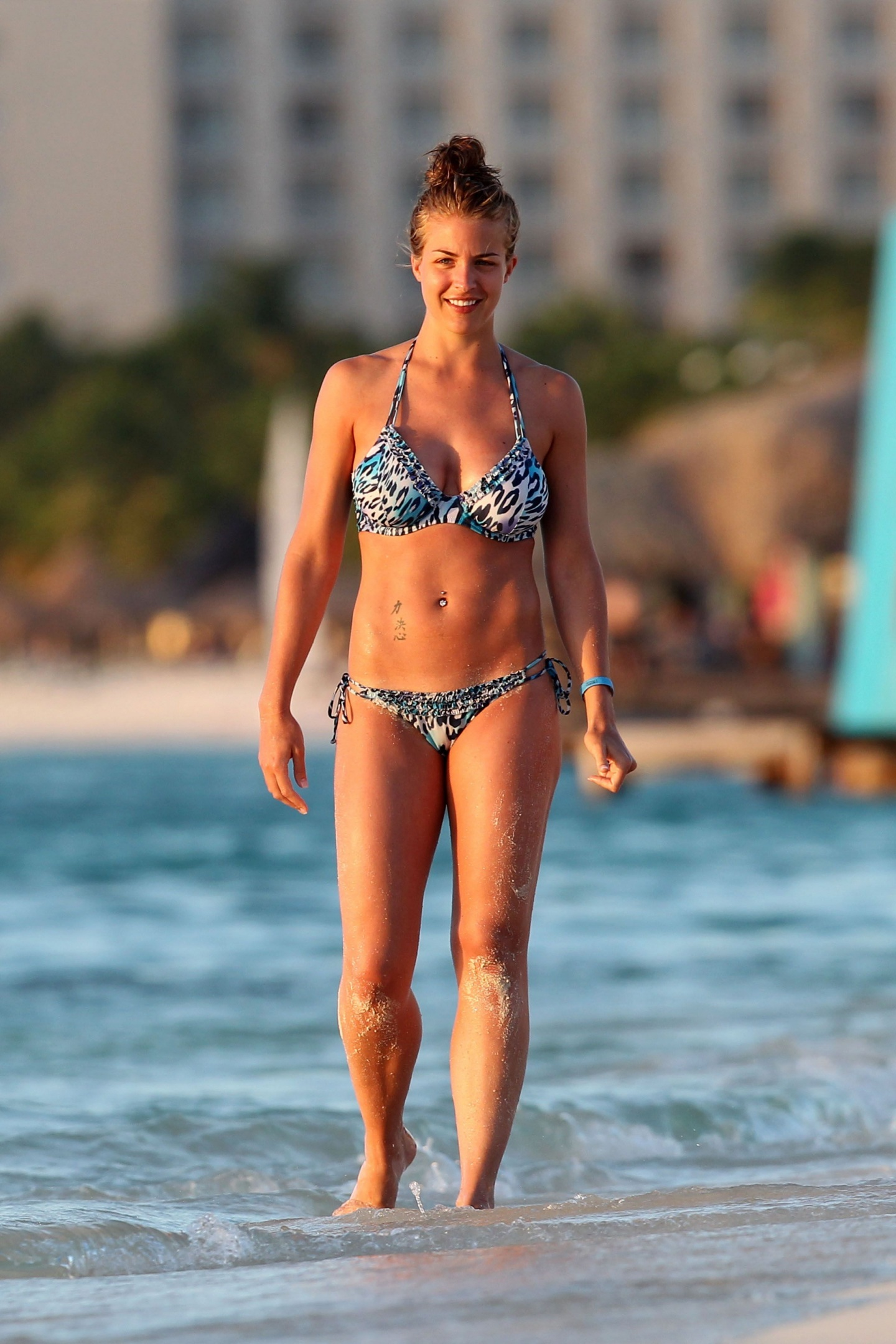 Gemma Atkinson Bikini Beach Candids In Aruba Tv