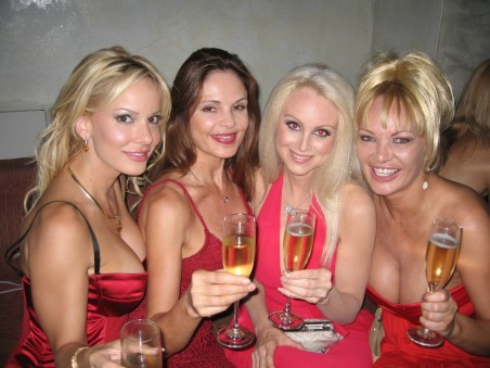 Ladies In Red Toasting