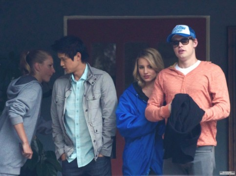Glee Cast Out To Lunch Dianna Agron Cast Of