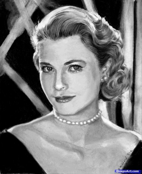 How To Draw Grace Kelly Princess Grace Kelly Movie