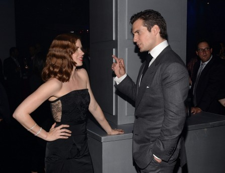 Henry Cavill Amy Adams Mos After Party Movies