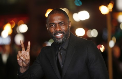 Actor Idris Elba Gestures As He Arrives For The World Premiere Of Les Miserables In London December