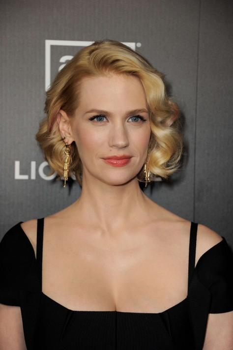 January Jones Cleavy At Mad Men Premiere Mad Men