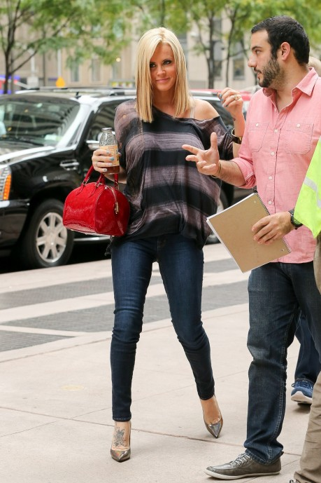 Jenny Mccarthy Outside The Siriusxm Studios