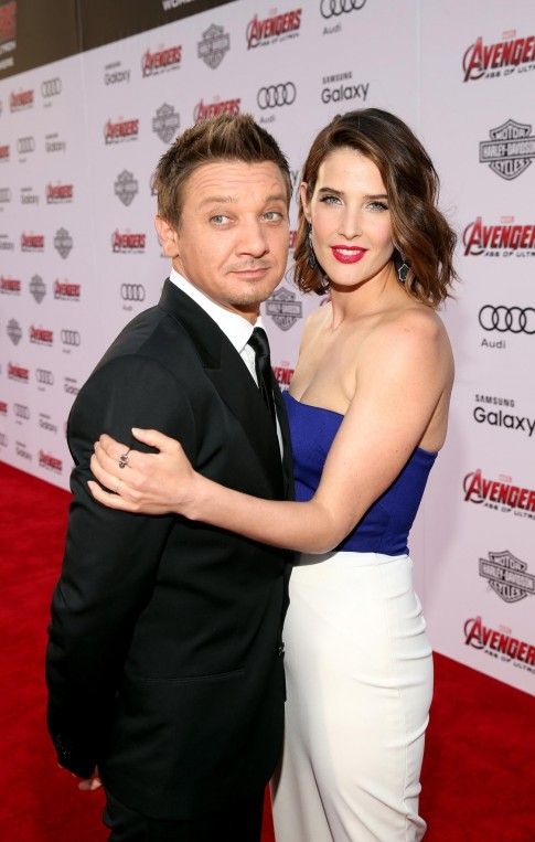 Jeremy Renner And Cobie Smulders At Event Of Avengers Age Of Ultron