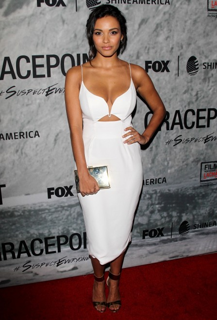 Jessica Lucas Attends The Screening Of Gracepoint At The Bing Theatre