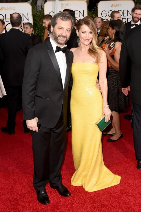 Judd Apatow With Wife Leslie Mann Fw Body