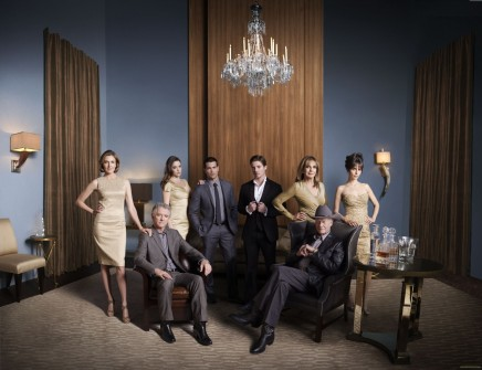 Dallas Group Patrick Duffy Brenda Strong Julie Gonzalo Jesse Metcalfe Josh Henderson Linda Gray Jordana Brewster And Larry Hagman Ph Mark Seliger And Josh Henderson