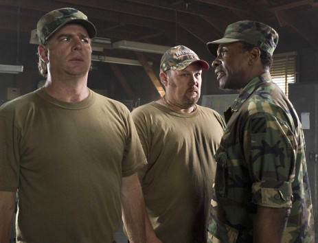 Bill Little Bill Engvall Larry Larry The Cable Guy And Sgt Kilgore Keith David In Delta Farce Photo Credit Sam Urdank
