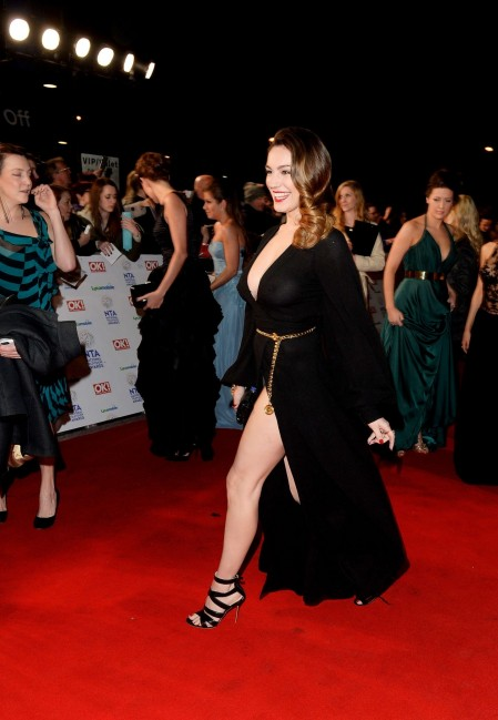 Kelly Brook National Television Awards In London Tv