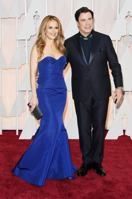 John Travolta Kelly Preston Oscars And John Travolta