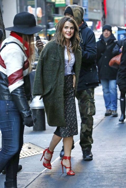 Keri Russell Arrival On Today Show In Nyc