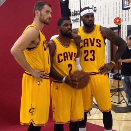 Kevin Love Kyrie Irving Lebron James Ready To Lead Cleveland Cavaliers To Nba Title Beard